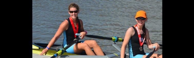 Sarah and Kara-States medals dock